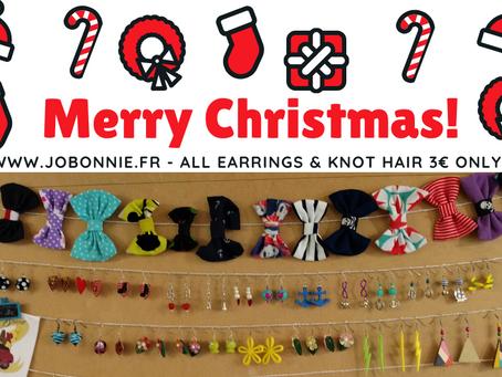 Offre spécial Noël | Boucles d'oreilles & Nœuds 3€ | Jo.Bonnie