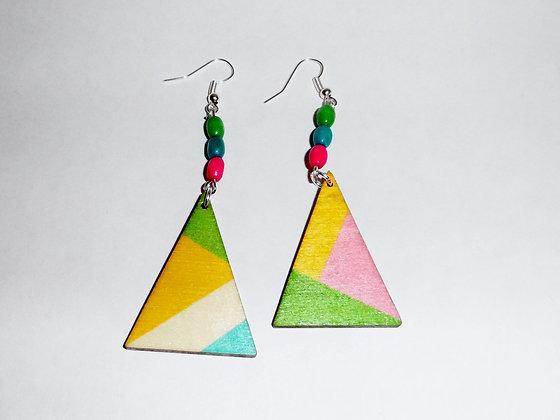 Boucles d'oreilles multicolores 2