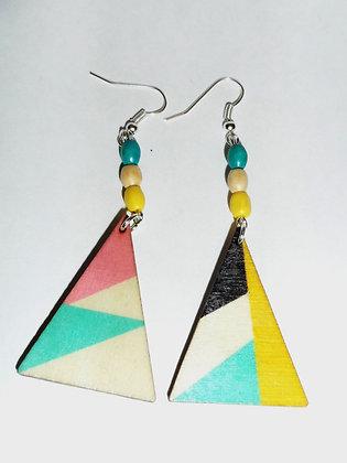 Boucles d'oreilles multicolores 1