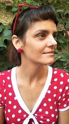 Boucles d'oreilles pin-up rouge