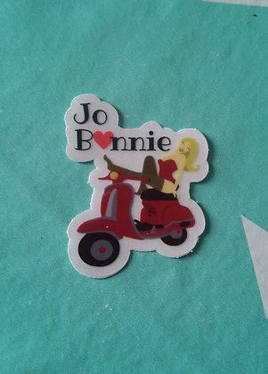 Sticker Jo.Bonnie   Fond transparent