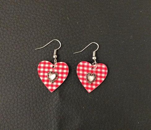 Boucles d'oreille coeur coeur