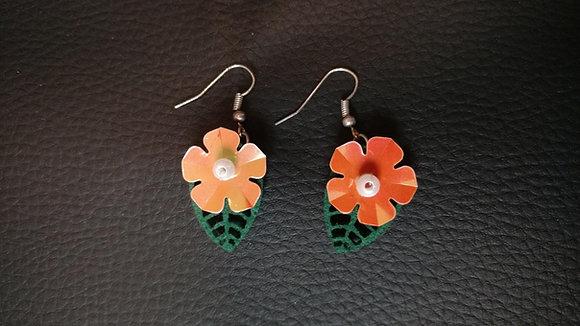 Boucles d'oreilles | Hawaii 2 - orange