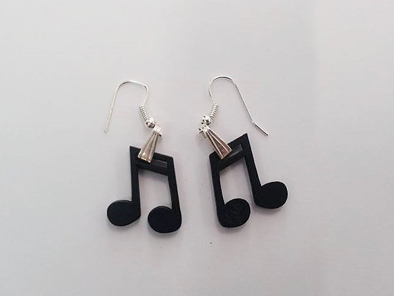 Boucles d'oreilles note musique