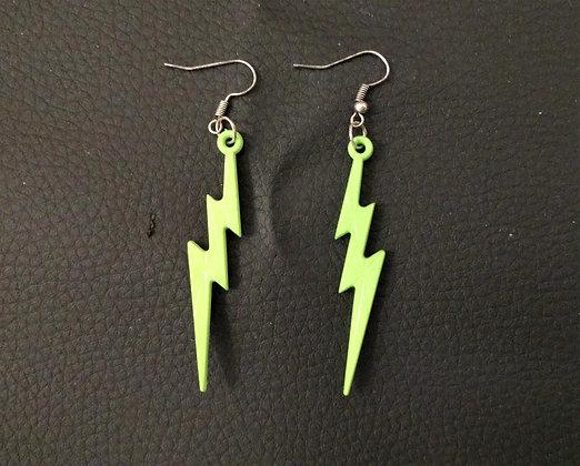 Boucles d'oreilles éclair vert
