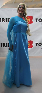 création robe reine des neiges travestie transgenre