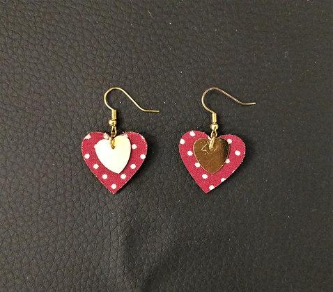 Boucles d'oreille coeur coeur 3