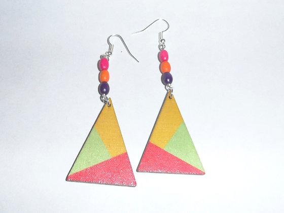 Boucles d'oreilles multicolores 3