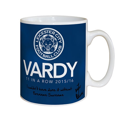 Leicester City FC Vardy 11 in a Row Mug