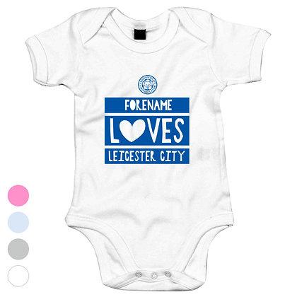 Leicester City FC Loves Baby Bodysuit