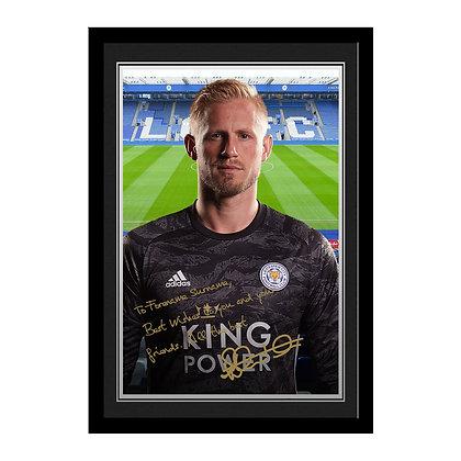 Leicester City FC Schmeichel Autograph Photo Framed