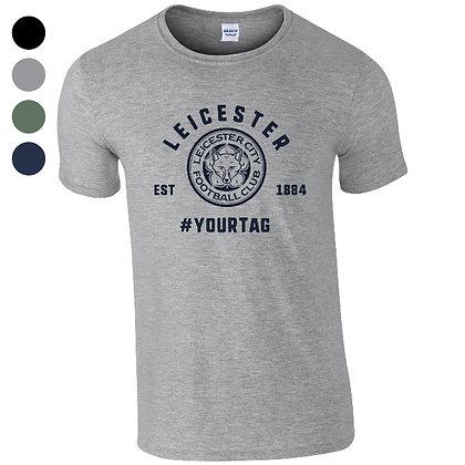 Leicester City FC Vintage Hashtag T-Shirt