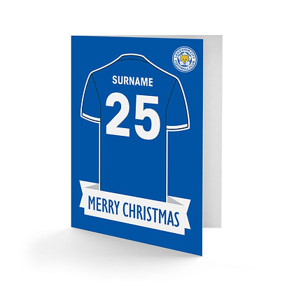 Leicester City FC Shirt Christmas Card