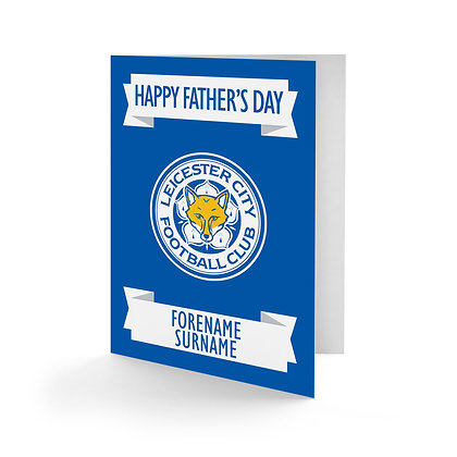 Leicester City FC Crest Father's Day Card