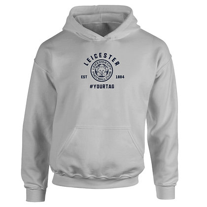 Leicester City FC Vintage Hashtag Hoodie