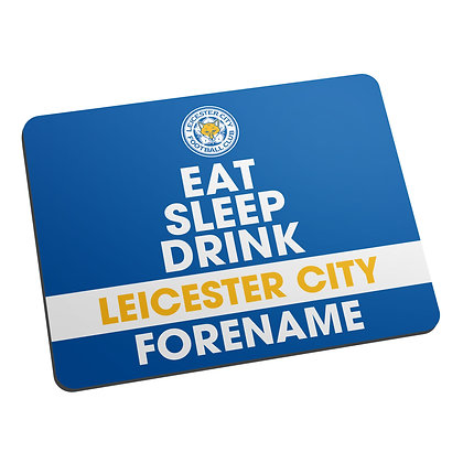 Leicester City FC Eat Sleep Drink Mouse Mat
