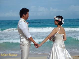 ハワイ挙式のお写真いただきました