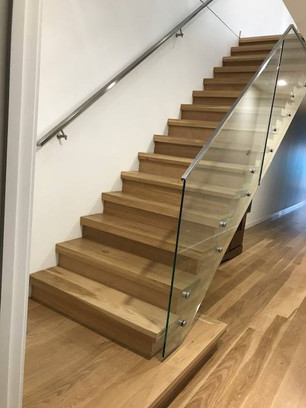 American Oak stairs with 25 mm stand off