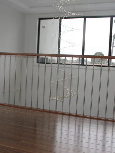 16 mm dia SS balustrade with hardwood handrail
