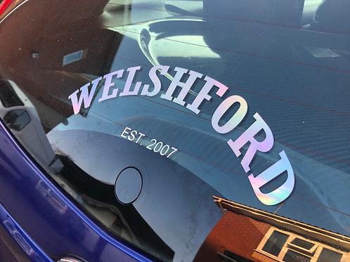 """10"""" Oil Chrome - Welsh Ford Est. 2007"""