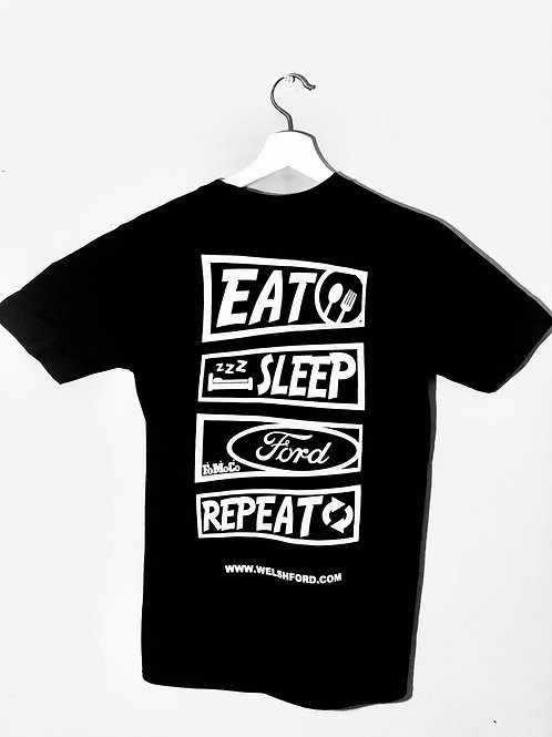Welsh Ford Eat, Sleep, Ford, Repeat Tee