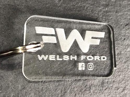 Welsh Ford Acrylic Keyring v2