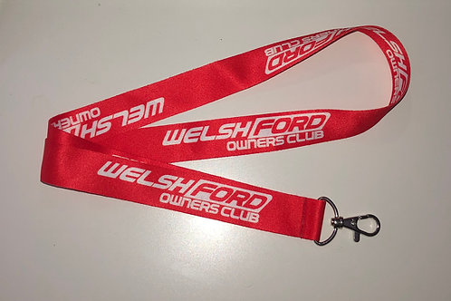 Welsh Ford Lanyard - Red