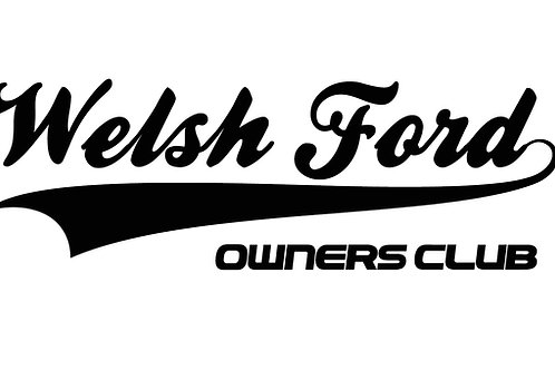 Welsh Ford Club Sticker - Chrome Colours