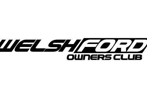 Welsh Ford OG Club Sticker