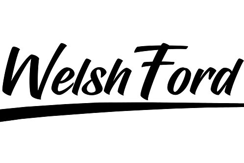 Welsh Ford Swoosh Sticker - 15""