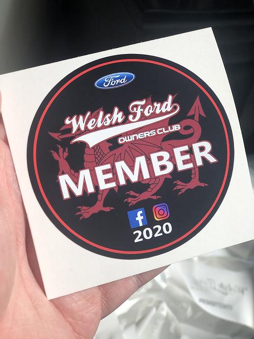Welsh Ford Membership sticker - 2020