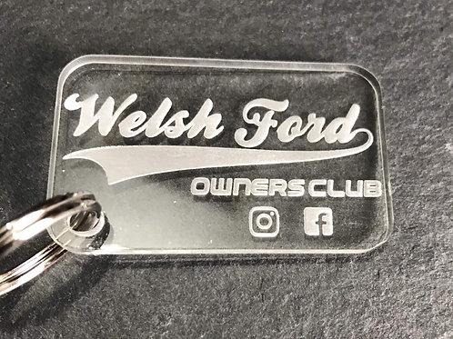 Welsh Ford Acrylic Keyring v1