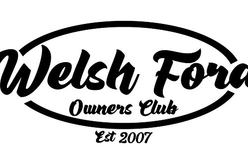 Welsh Ford Retro Oval Sticker