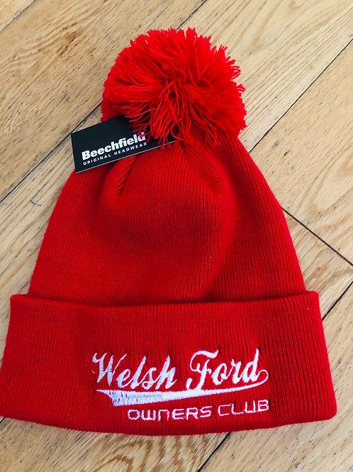 Welsh Ford Pom Pom Beanie Hat