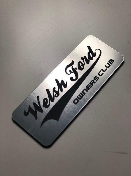 Welsh Ford Metal Stick On Badge