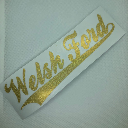 2018 Club Logo (Glitter Gold)
