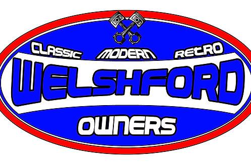 Welsh Ford Oval Slap Sticker