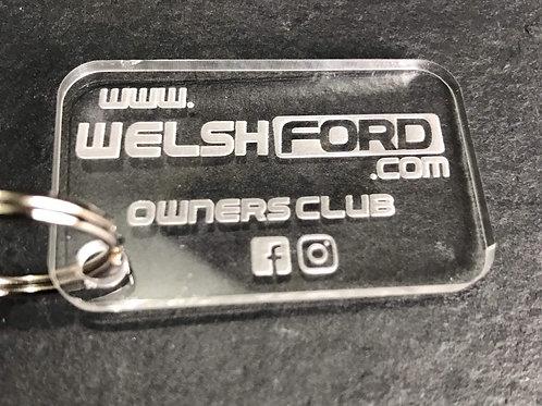 Welsh Ford Acrylic Keyring v3