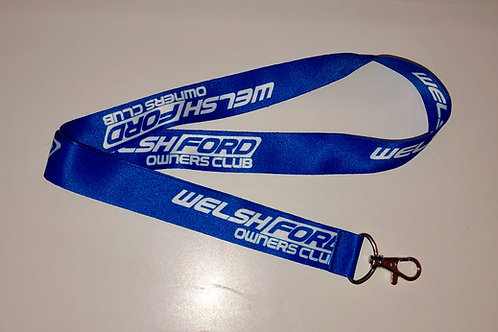 Welsh Ford Lanyard - Blue