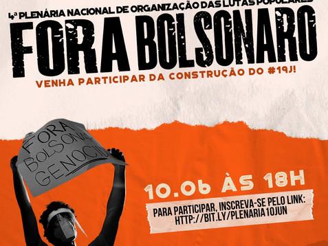 Plenária Nacional de Organização dos atos para o dia 19/06 pelo Fora Bolsonaro