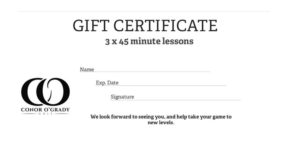 3 x 45 MINUTE LESSONS