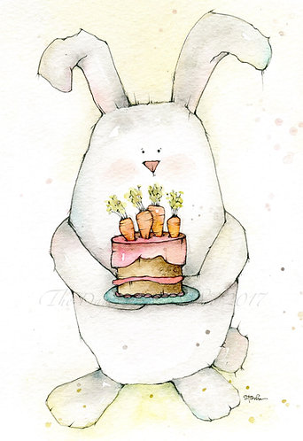 Cutie Pie with Carrot Cake Greeting Card