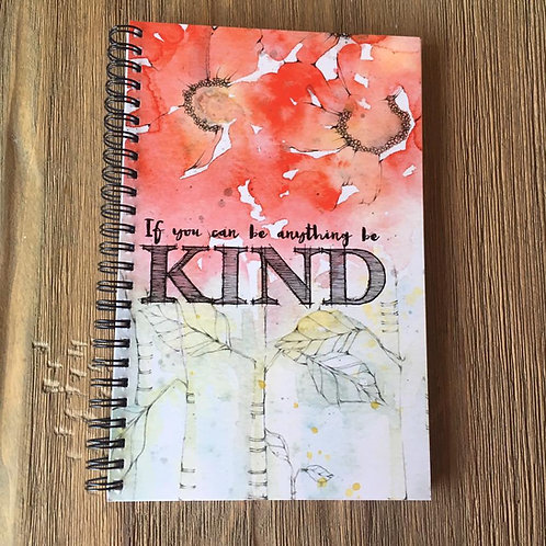 Be Kind Spiral Bound Midi-Notebook/Journal