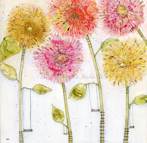 Let's Swing from the Flowers and Watch Them Bloom Like Greeting Card