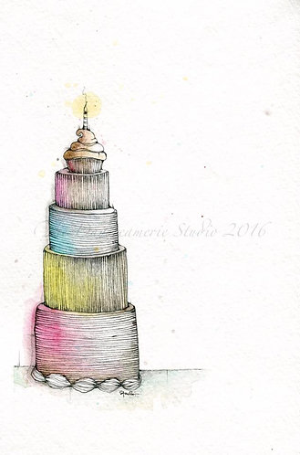 Tiered Wishes Greeting Card