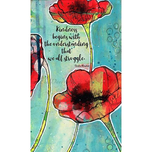 Kindness Begins Post Card