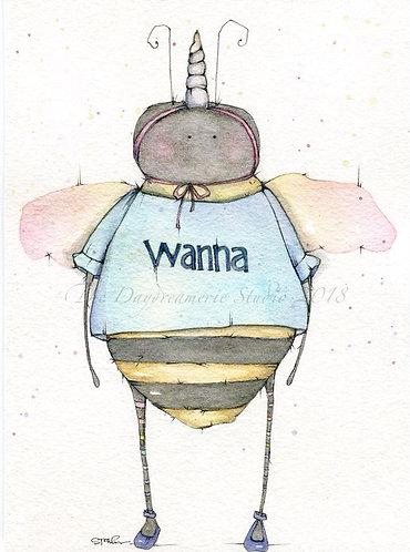 Wanna Bee Post Card