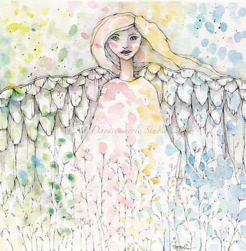 Confetti Angel Greeting Card