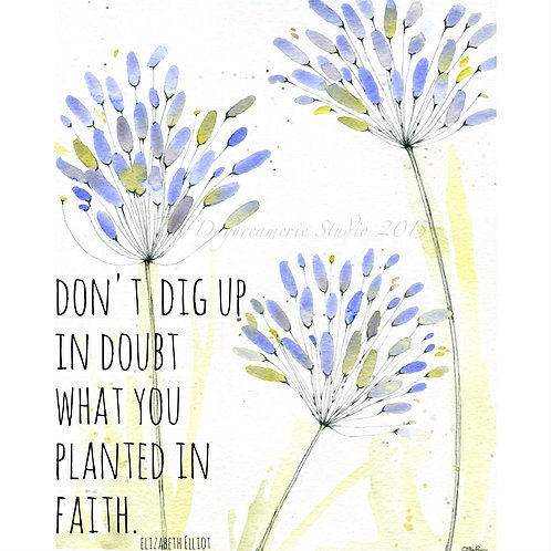 Planted in Faith Greeting Card