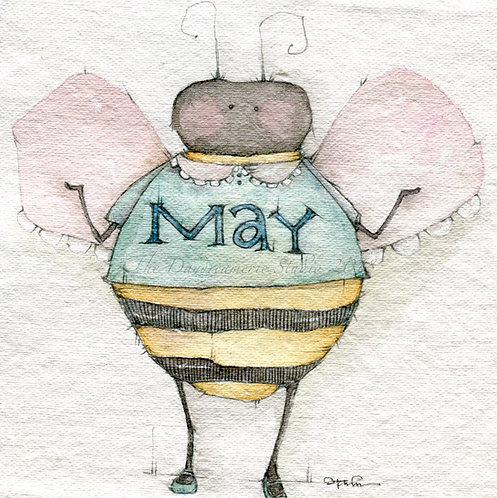 What do you call a bee who can't make up their mind? Square Post Card
